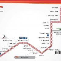 מפת הרכבת הקלה בירושלים 2020