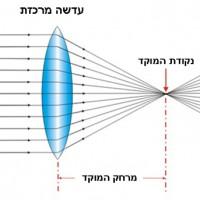תמונה 2. עדשה מרכזת (מספרי +) עוזרת בתיקון רוחק ראייה.