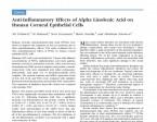 מאמר על שימוש בחומצת שומן מקבוצת אומגה 3 כמדכא דלקת במשטח העין.