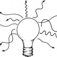תמונה 1. אור רגיל פונה לכל הכיוונים, הוא מורכב מאורכי גל רבים, והוא אינו קוהרנטי.